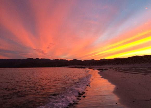 Multicolor Sunset on the Sea of Cortez