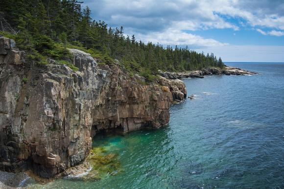 Granite Walls and Frenchman Bay