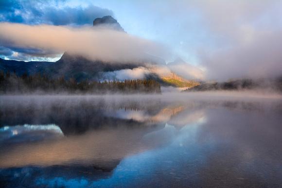 Clearing morning inversion. Two Medicine Lake